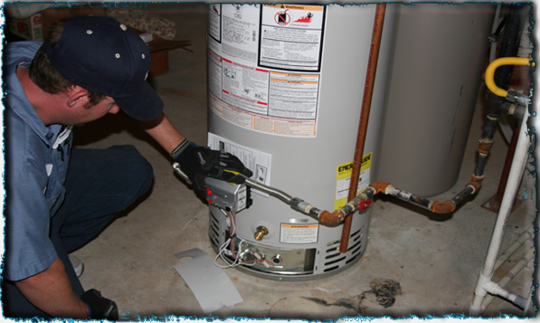 water heating fixture